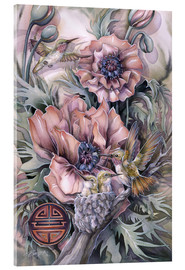 Acrylic print  Love is life sweetest flower - Jody Bergsma