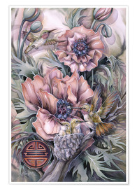 Poster  Love is life sweetest flower - Jody Bergsma