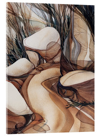 Acrylic glass  The road less travelled - Jody Bergsma