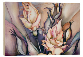 Wood print  Whatsoever is beautiful - Jody Bergsma
