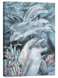 Canvas  Peace, Love and Laughter - Jody Bergsma
