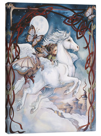 Canvas print  Child Riding On Horse - Jody Bergsma