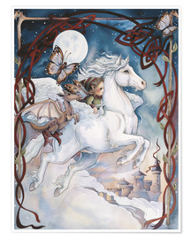 Premium poster  Child Riding On Horse - Jody Bergsma