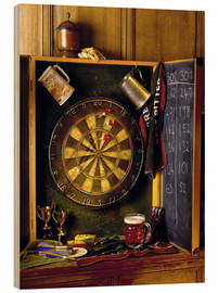 Wood print  Darts board - Simon Kayne
