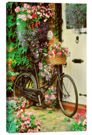 Canvas print  Bicycle & Flowers - Simon Kayne