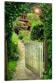 Acrylic print  Secret Garden Gate - Simon Kayne