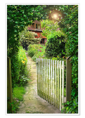 Secret Garden Gate Posters And Prints Posterlounge Co Uk