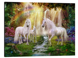 Alu-Dibond  Waterfall Glade Unicorns - Jan Patrik Krasny