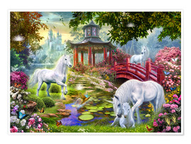 Premium poster Unicorn summer house