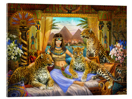 Acrylic glass  Egyptian Queen of the Leopards - Jan Patrik Krasny