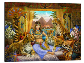 Aluminium print  Egyptian Queen of the Leopards - Jan Patrik Krasny