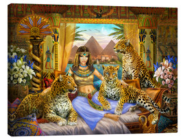 Canvas print  Egyptian Queen of the Leopards - Jan Patrik Krasny