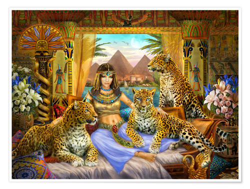 Premium poster Egyptian Queen of the Leopards