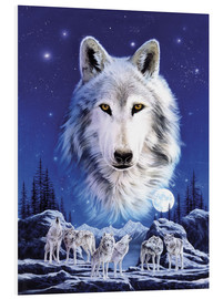 Foam board print  Night of the wolves - Robin Koni