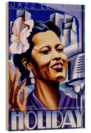 Wood print  Billie Holiday - Roger Pearce