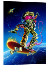 Acrylic print  Skateboarder - Extreme Zombies