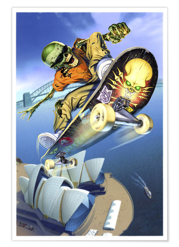 Premium poster Skateboarding over Opera House