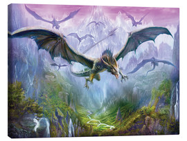 Canvas  The Valley Of Dragons - Dragon Chronicles