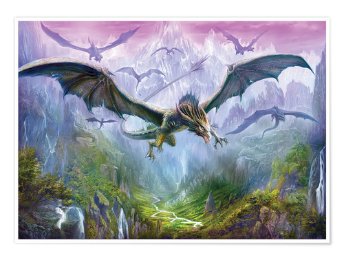 Premium poster The Valley Of Dragons