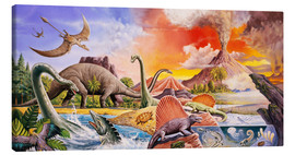 Canvas print  Volcanic eruption in prehistoric times - Paul Simmons