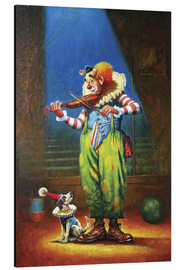 Aluminium print  Clown and dog - Petar Meseldzija