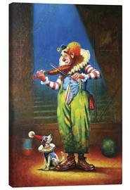 Canvas  Clown and dog - Petar Meseldzija