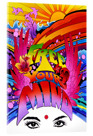 Acrylic print  Free your mind - Pete Kelly