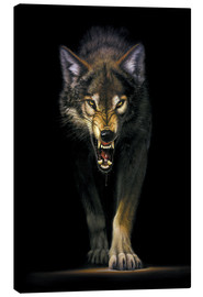 Canvas  Stalking wolf - Chris Hiett