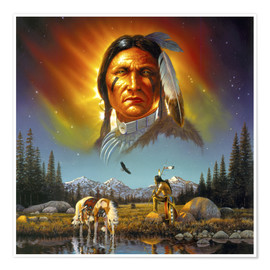 Premium poster Chief eagle feather