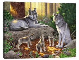 Canvas  A family of wolves - Chris Hiett