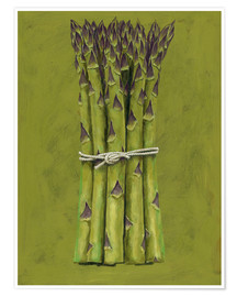 Premium poster  Asparagus bunch - Brian James