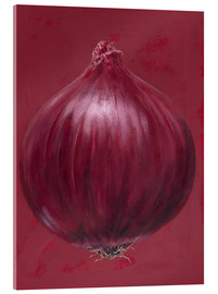 Acrylic print  Red onion - Brian James