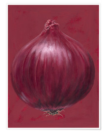 Premium poster  Red onion - Brian James
