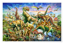 Premium poster Assembly of dinosaurs