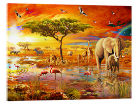 Acrylic glass  Savanna Pool - Adrian Chesterman
