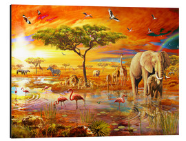 Aluminium print  Savanna Pool - Adrian Chesterman