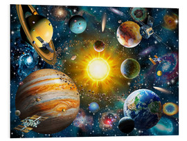 Foam board print  Our Solar System - Adrian Chesterman