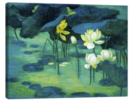 Canvas print  Emerald pond - Ailian Price