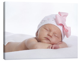 Canvas print  Newborn sleeping - Eva Freyss