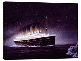 Canvas print  RMS Titanic at night - Francis Mastrangelo