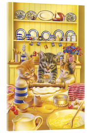 Acrylic print  Cats cooking cake - Gareth Williams