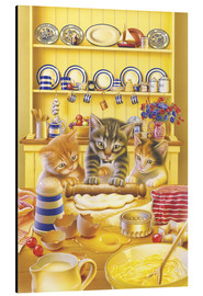 Aluminium print  Cats cooking cake - Gareth Williams