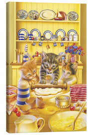 Canvas  Cats cooking cake - Gareth Williams