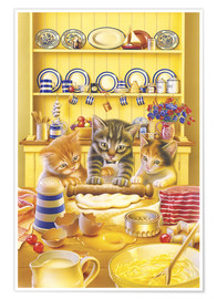 Premium poster  Cats cooking cake - Gareth Williams