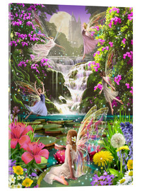 Acrylic print  Waterfall fairies - Garry Walton