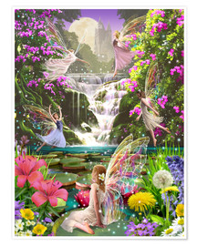 Premium poster  Waterfall fairies - Garry Walton