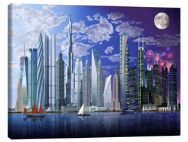Canvas print  World's tallest buildings - Garry Walton