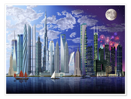 Premium poster  World's tallest buildings - Garry Walton