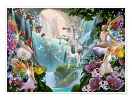 Premium poster  Unicorn waterfall - Garry Walton