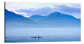 Alu-Dibond  Three Killer whales in mountain landscape at Vancouver Island - Jürgen Ritterbach